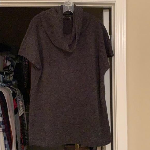 LOFT Sweaters - Cowl neck short sleeve poncho sweater
